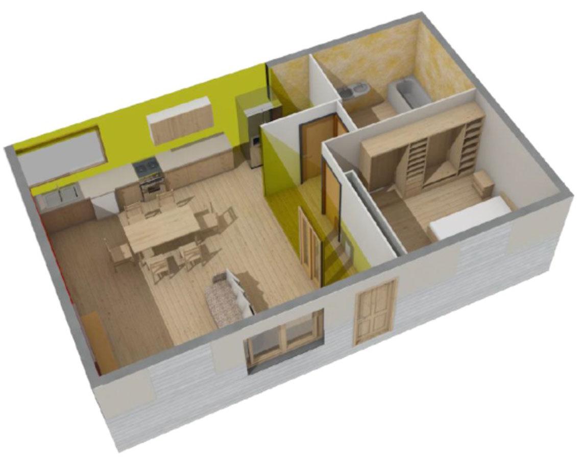 Plan 3D appartement témoin